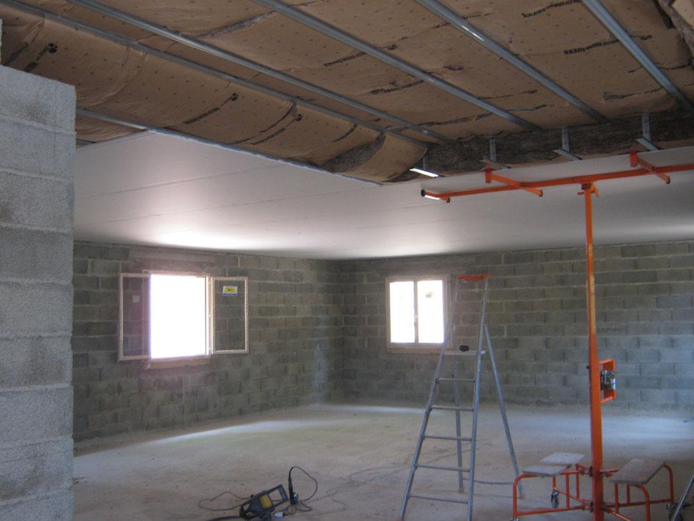 Plafond et isolation